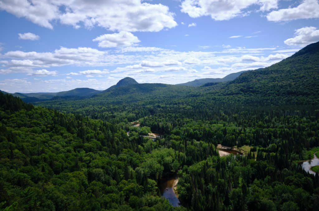 Exploring the mountains and trails of Mont Tremblant in the Canadian summer.